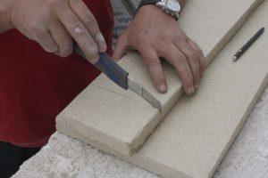 Corte de vermiculita para el revestimiento