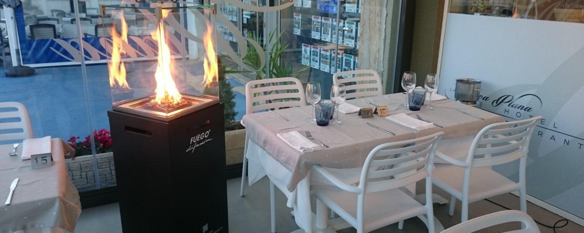 Estufa de exterior para restaurantes