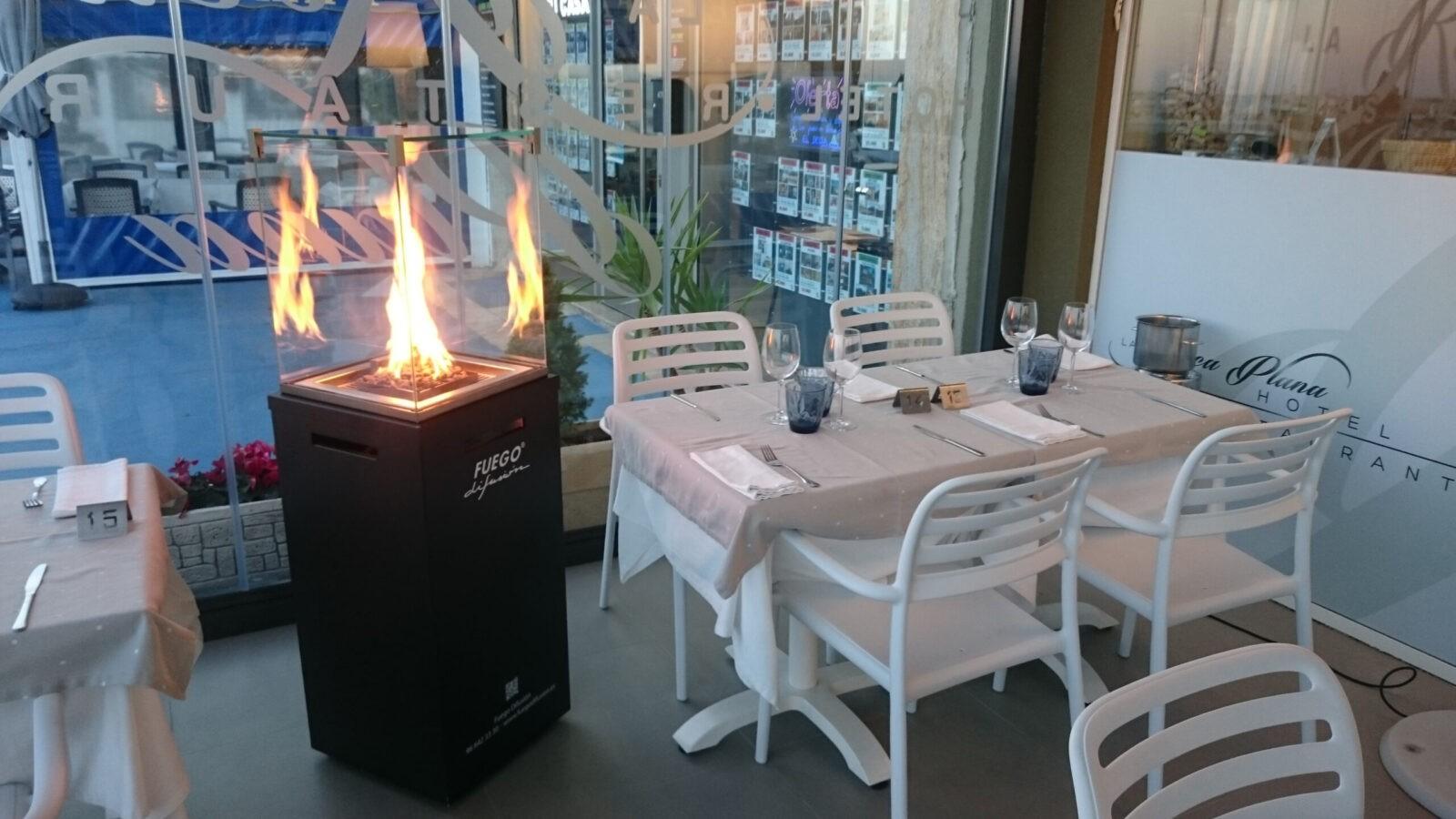 Estufa de exterior para restaurantes scaled