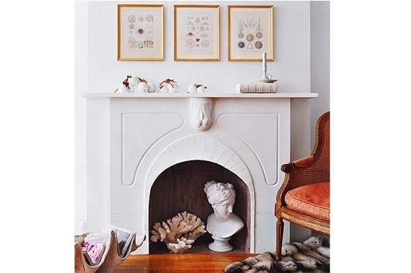 como decorar una chimenea apagada fotos