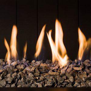 chimeneas de gas basalto decoración fuego