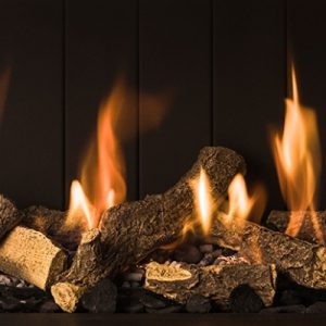 chimeneas de gas madera imitación decoracion del fuego