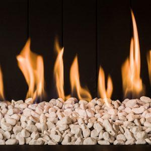chimeneas de gas piedras decoración fuego