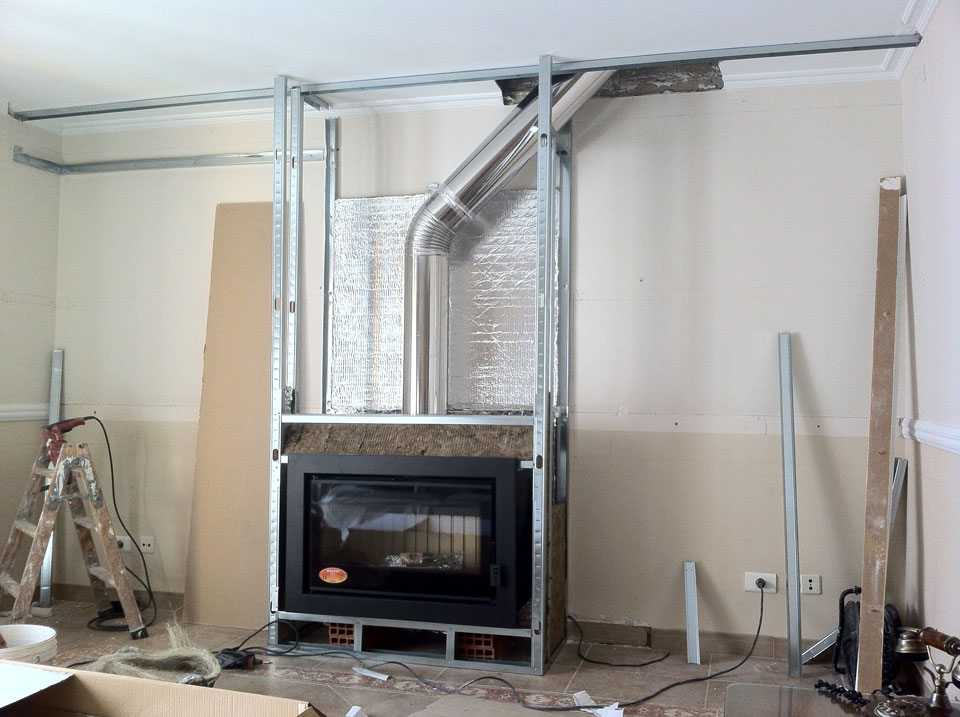 Revestimiento para chimeneas la vermiculita fuego difusion for Instalar insert chimenea existente