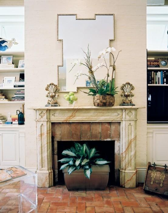 Fuego Difusion Ideas para decorar la chimenea en verano